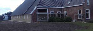 Vervangen dak en muren kop hals romp boerderij